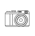 line cute digital camera to take a picture vector image