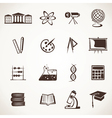 educational icon stock vector image