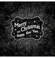 christmas vintage black background vector image