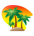 palm island logo vector image