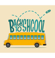 Back to school theme with schoolbus vector image vector image