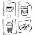 coffee in different containers vector image