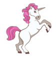 Cute white unicorn vector image