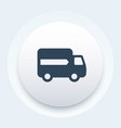 delivery icon van transportation symbol vector image
