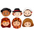 different faces of children from different vector image