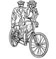 Retro tandem bicycle vector image