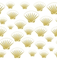 Seamless sea shells vector image