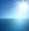 Tropical sunny summer sea vector image
