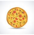 Vegetarian pizza vector image