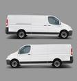 white commercial cargo minivan template vector image