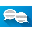 White speech bubbles with grey abstract text vector image