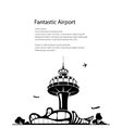 Airport Poster Brochure Design vector image