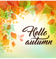 Autumn background with orange and yellow leaves vector image