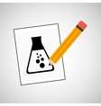 research chemical flask laboratory drawing icon vector image