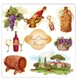 Wine colored icons set vector image