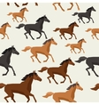 Seamless pattern with horse running in flat style vector image