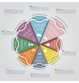 Business Infographics circle modern style vector image