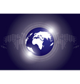 Digital Earth Technology Background vector image vector image