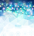 Christmas holiday background with snowflakes snow vector image