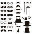 Black retro gentleman elements set vector image vector image