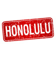 Honolulu red stamp isolated on white background vector image