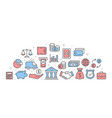 bank with icons vector image