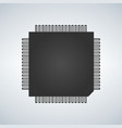 chip processor icon vector image