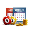 lottery icon realistic objects eps 10 vector image