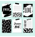 Modern card set for planner journaling vector image