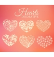 ornamental decorative heart set on blurred vector image
