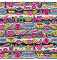 Princess Fashion Patches Seamless Pattern vector image