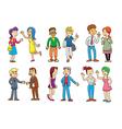 set of people talking cartoon vector image