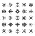Snowflake symbol graphic crystal frozen vector image