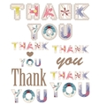 thank you vintage words vector image vector image