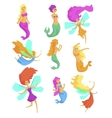 Mermaids And Fairies Fairy-Tale Fantastic vector image