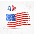 Fourth of July Independence Day American flag vector image vector image