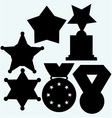 Set winning vector image vector image