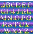 Summer Alphabet vector image