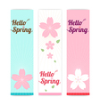 Spring banner background with cherry blossom vector image