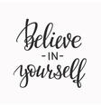Believe in yourself typography vector image