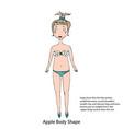 apple female body shape sketch hand drawn vector image