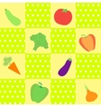 background with different vegetables vector image