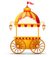Cart stall vector image