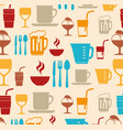 food-related objects pattern vector image