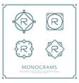 Letter R Monogram vector image