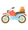 Motorcycle with boxes icon cartoon style vector image