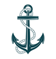 Nautical Anchor with rope vector image