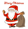 santa with a present bag vector image