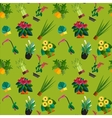 Seamless pattern of houseplants indoor and office vector image