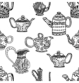 Seamless pattern of Teapots vector image